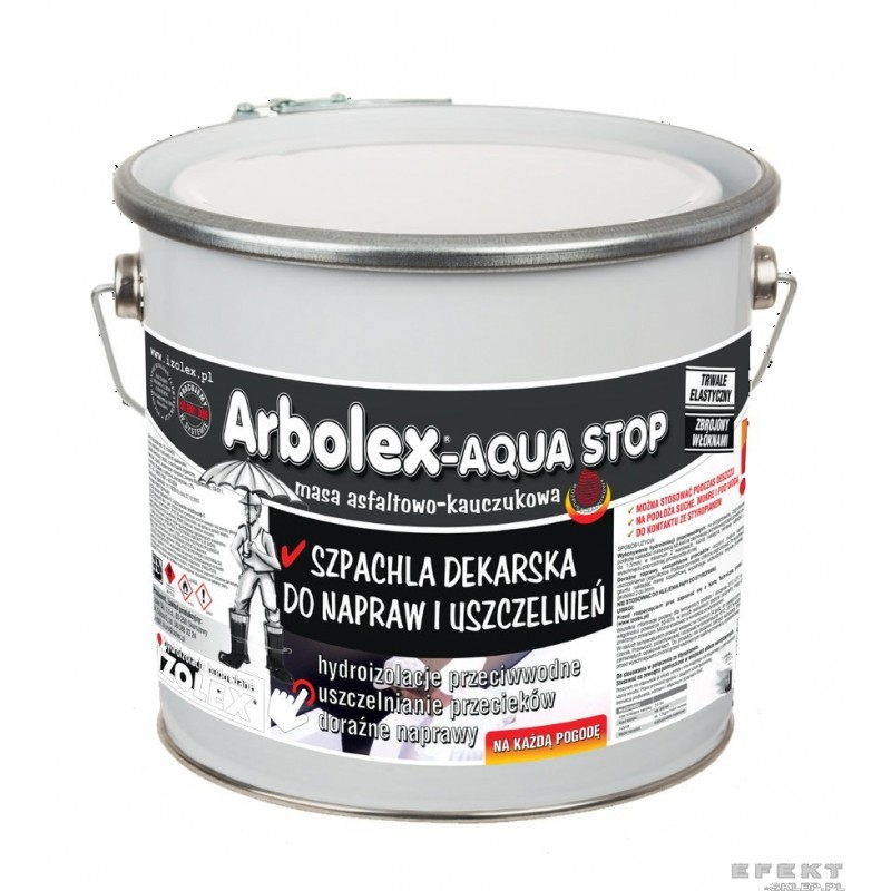 szpachla dekarska arbolex aqua stop izolex 3 kg efekt sklep pl. Black Bedroom Furniture Sets. Home Design Ideas