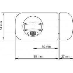 Zamek nawierzchniowy 50 mm LOB - wymiary