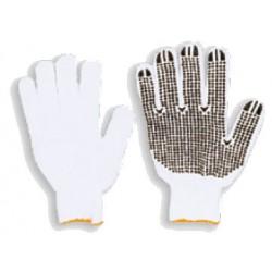 Rękawice robocze nakrapiane dziane