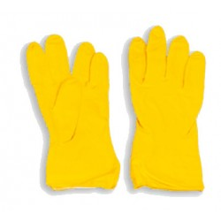 Rękawice gumowe flokowane